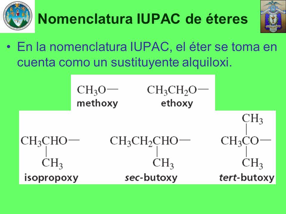Nomenclatura IUPAC de éteres