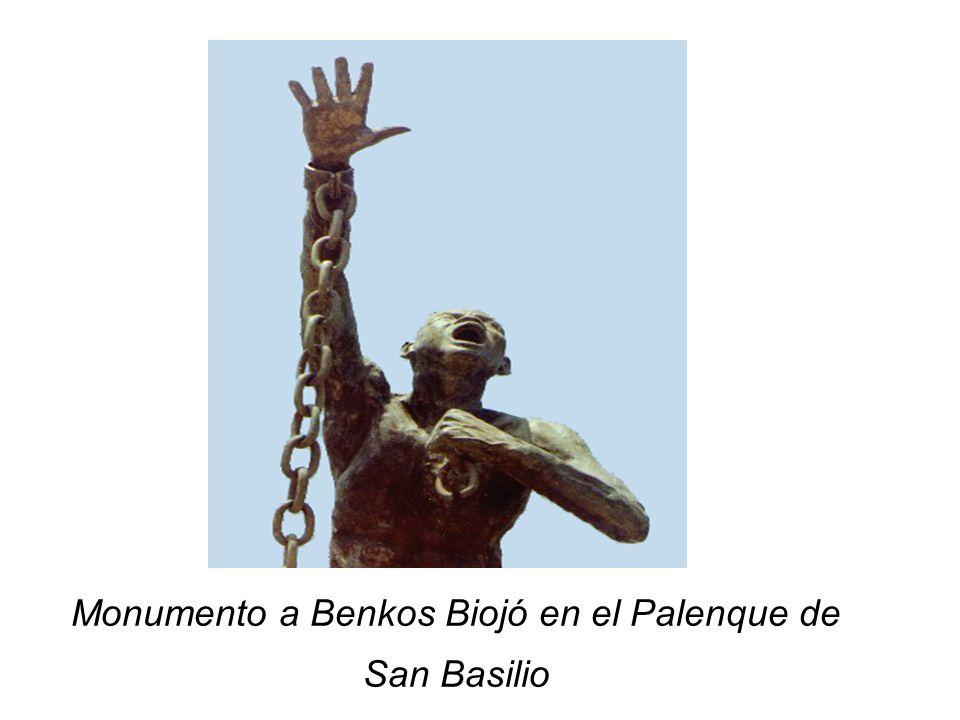 Monumento a Benkos Biojó en el Palenque de San Basilio