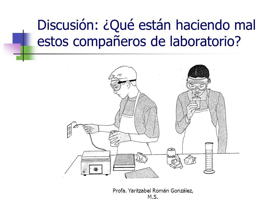 Discusión: ¿Qué están haciendo mal estos compañeros de laboratorio