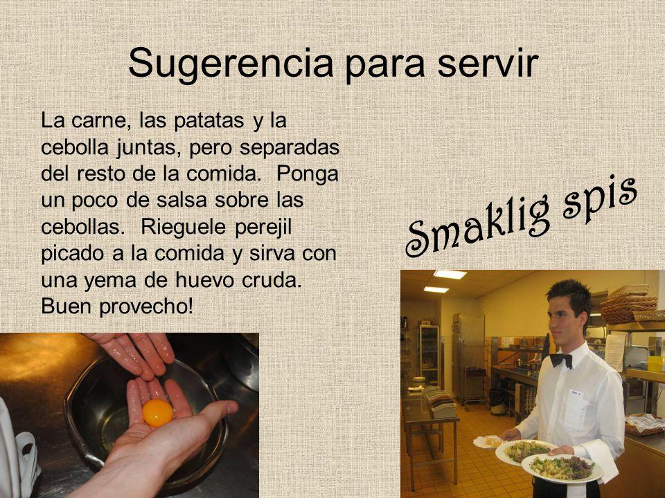 Sugerencia para servir