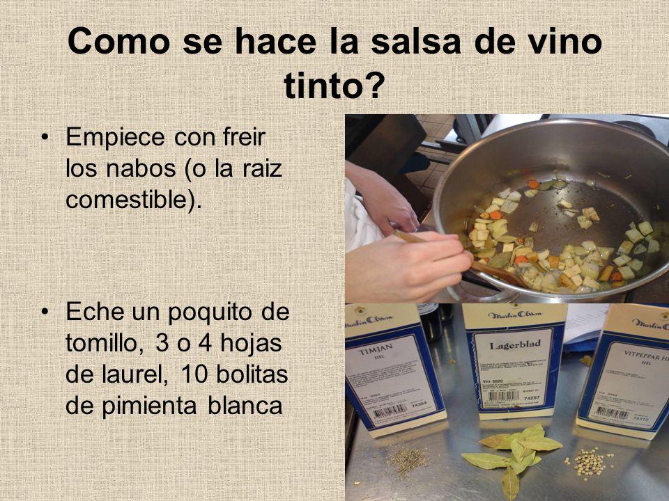 Como se hace la salsa de vino tinto