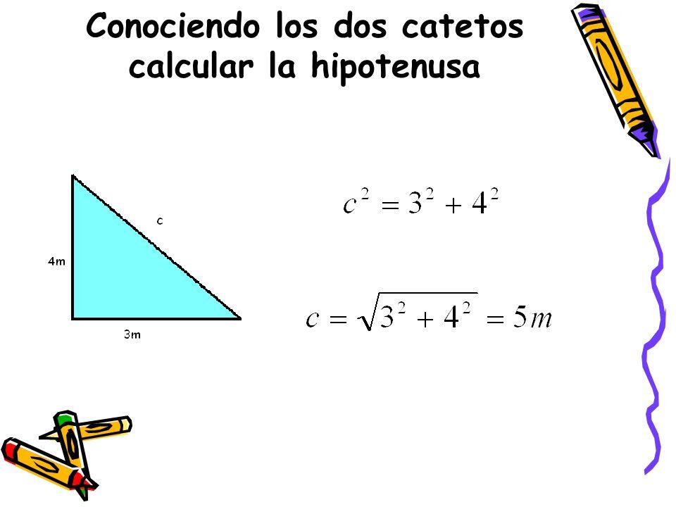 Conociendo los dos catetos calcular la hipotenusa
