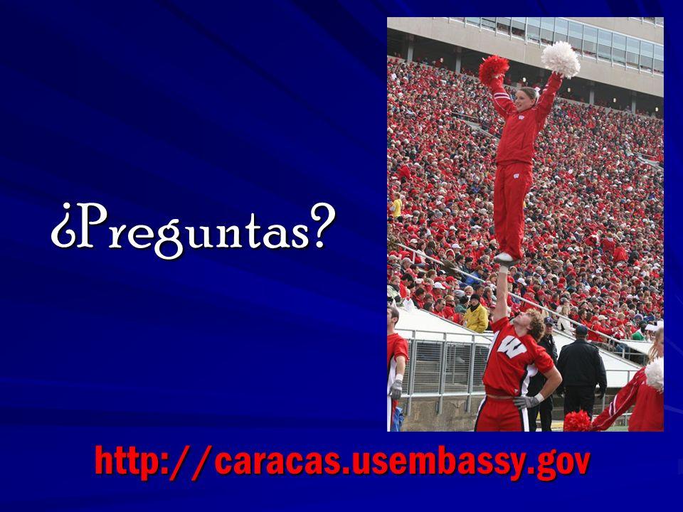 ¿Preguntas http://caracas.usembassy.gov