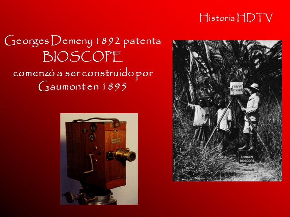 Georges Demeny 1892 patenta BIOSCOPE