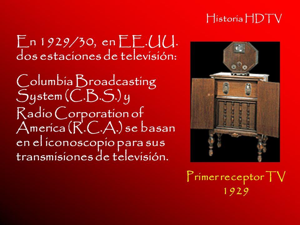En 1929/30, en EE.UU. dos estaciones de televisión: