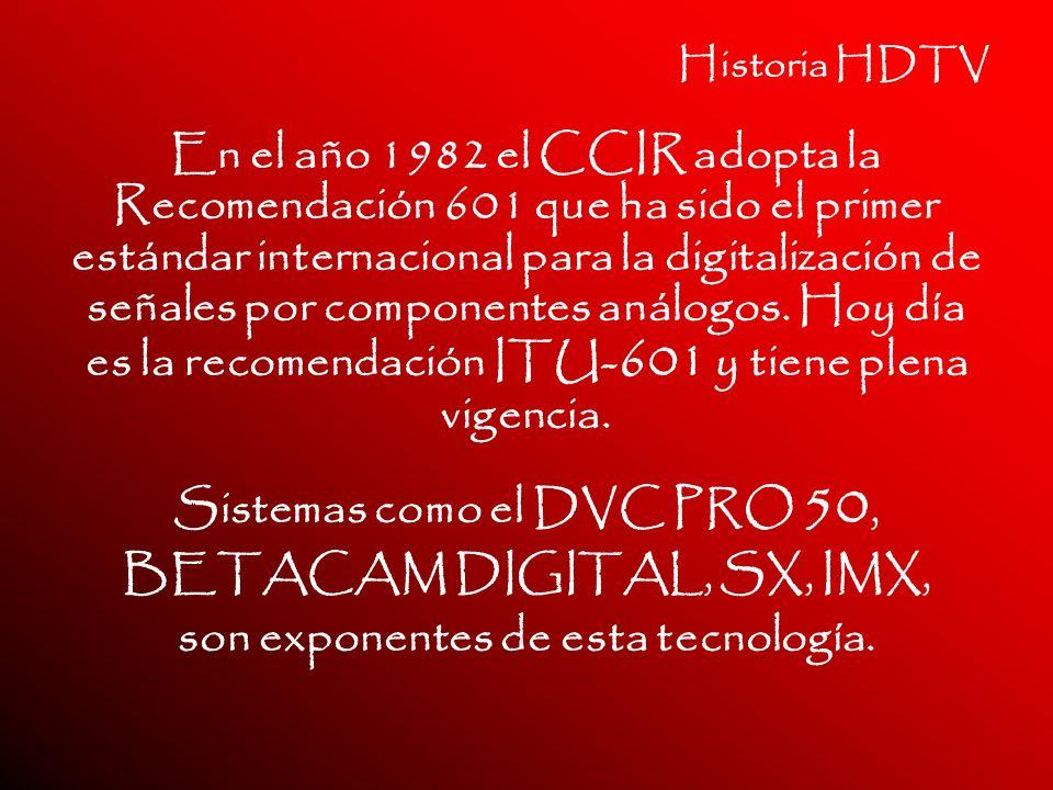 Sistemas como el DVC PRO 50, son exponentes de esta tecnología.