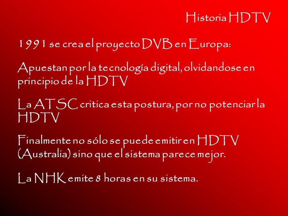 1991 se crea el proyecto DVB en Europa: