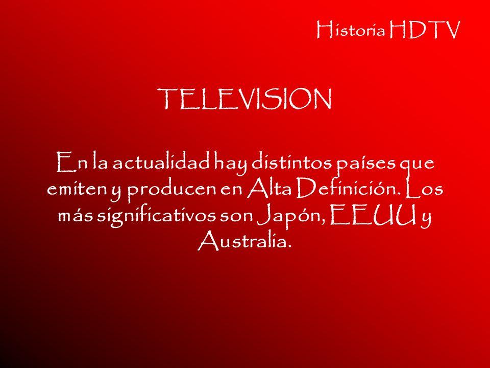 Historia HDTV TELEVISION.