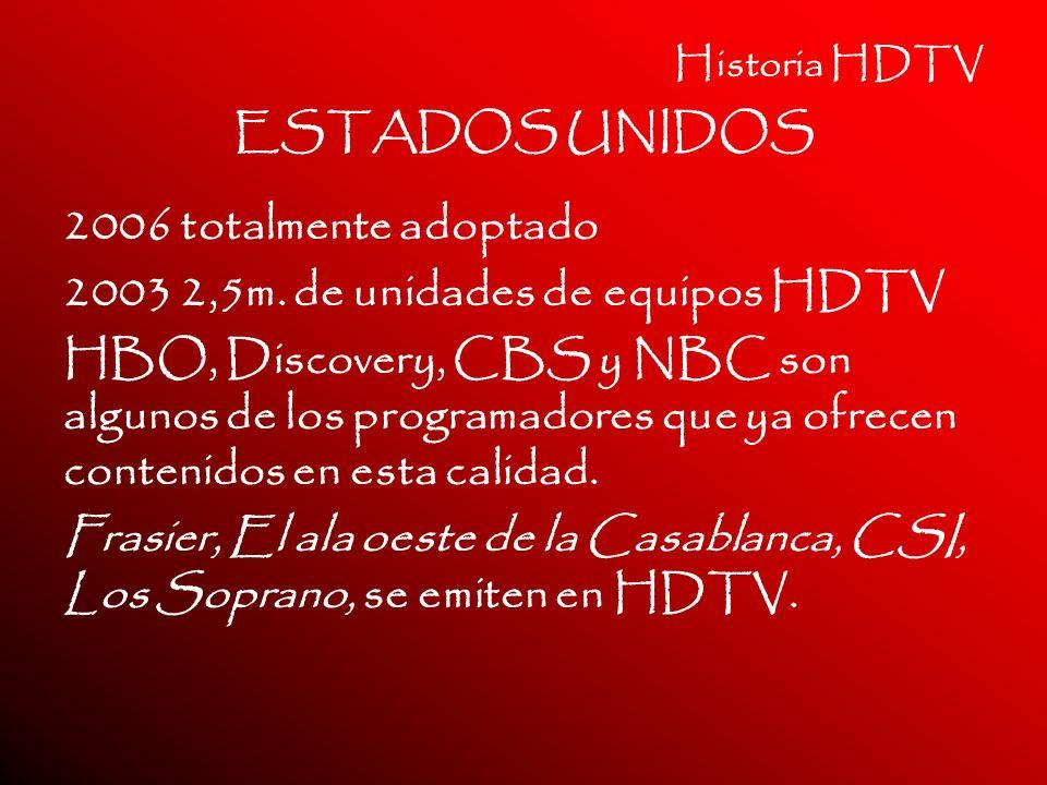 2003 2,5m. de unidades de equipos HDTV