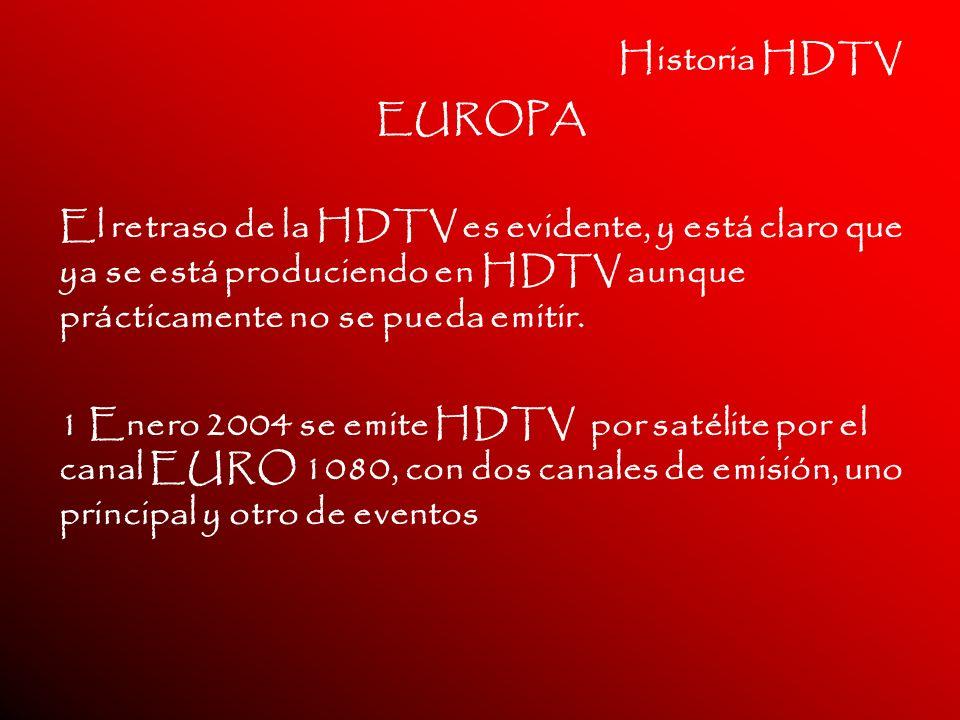 Historia HDTV EUROPA. El retraso de la HDTV es evidente, y está claro que ya se está produciendo en HDTV aunque prácticamente no se pueda emitir.