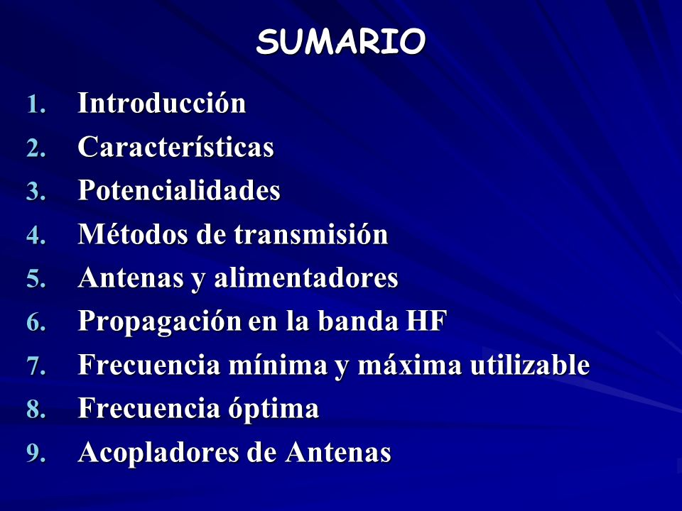 SUMARIO Introducción Características Potencialidades