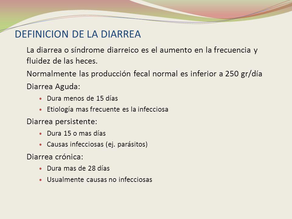 DEFINICION DE LA DIARREA