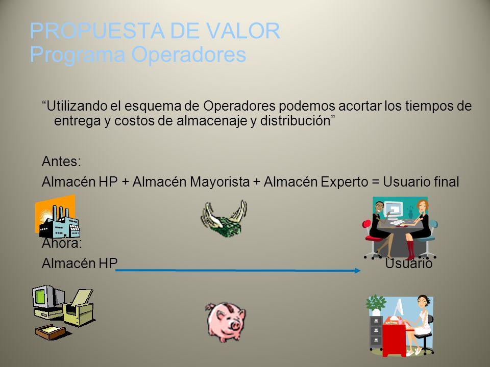 PROPUESTA DE VALOR Programa Operadores