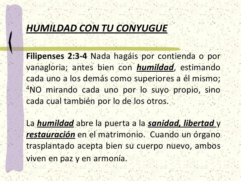 HUMILDAD CON TU CONYUGUE