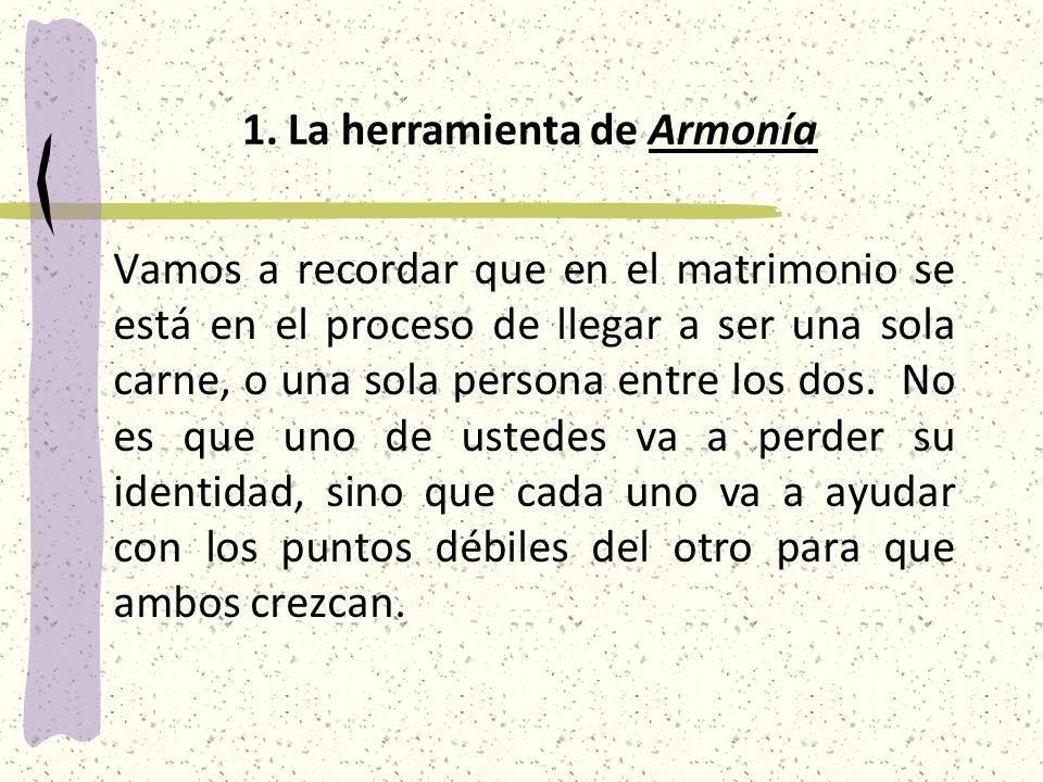 La herramienta de Armonía
