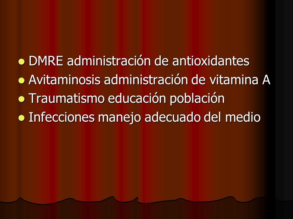 DMRE administración de antioxidantes