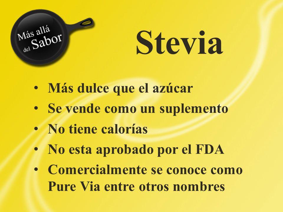 Stevia Más dulce que el azúcar Se vende como un suplemento