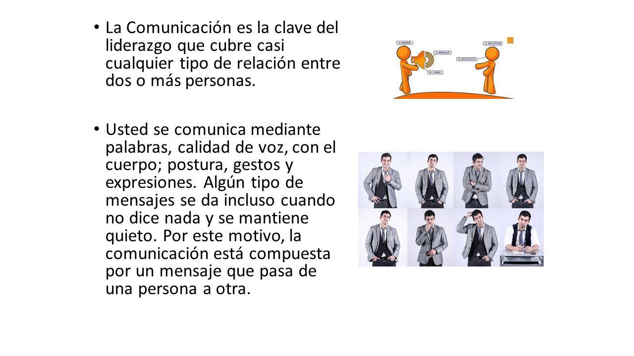 La Comunicación es la clave del liderazgo que cubre casi cualquier tipo de relación entre dos o más personas.