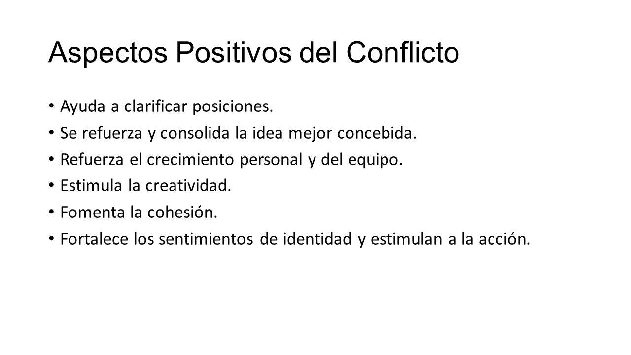 Aspectos Positivos del Conflicto