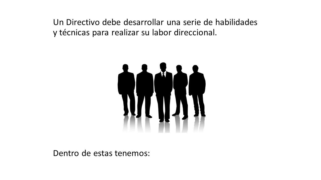 Un Directivo debe desarrollar una serie de habilidades y técnicas para realizar su labor direccional.
