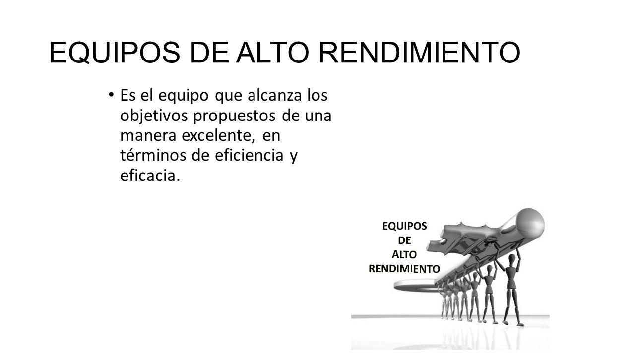 EQUIPOS DE ALTO RENDIMIENTO