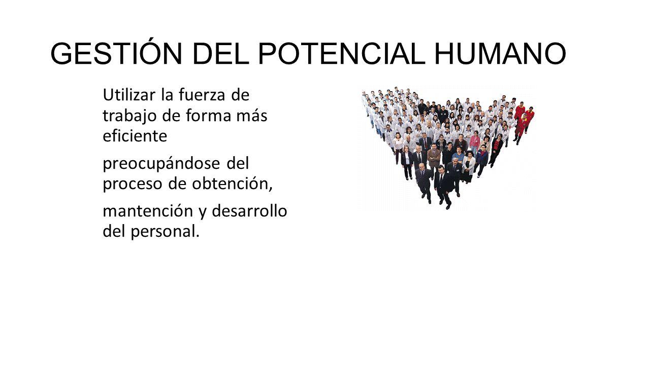 GESTIÓN DEL POTENCIAL HUMANO