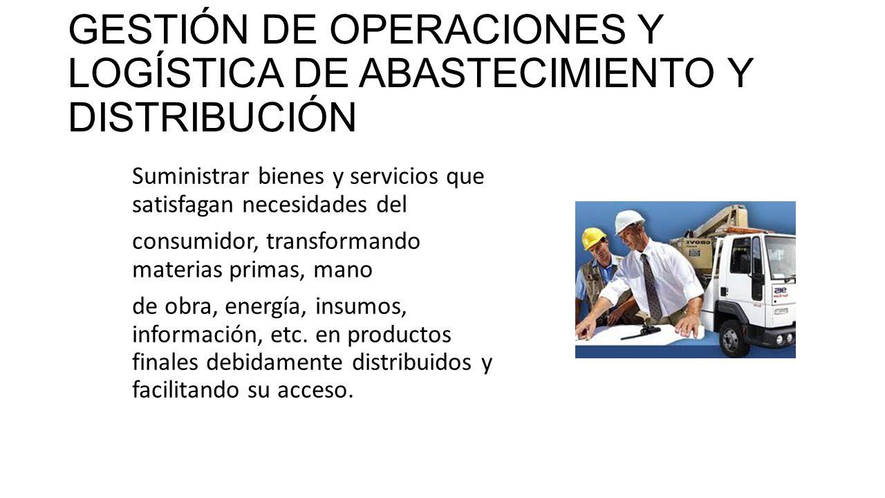 GESTIÓN DE OPERACIONES Y LOGÍSTICA DE ABASTECIMIENTO Y DISTRIBUCIÓN