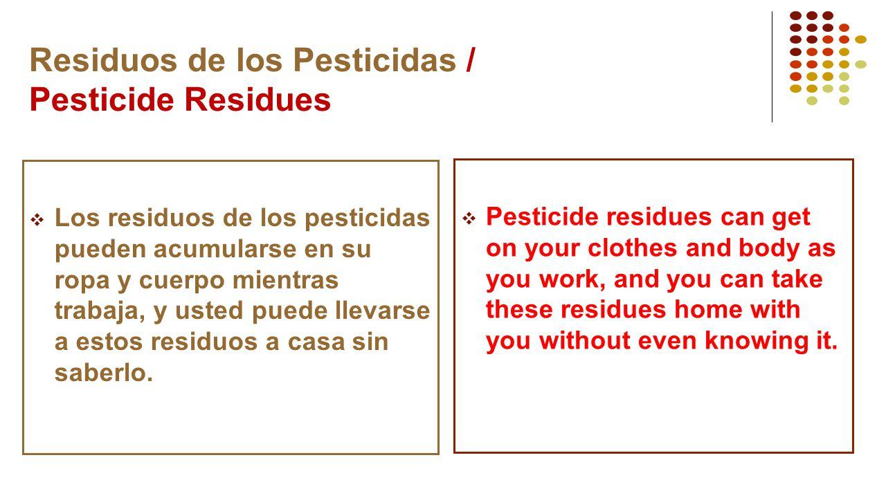 Residuos de los Pesticidas / Pesticide Residues