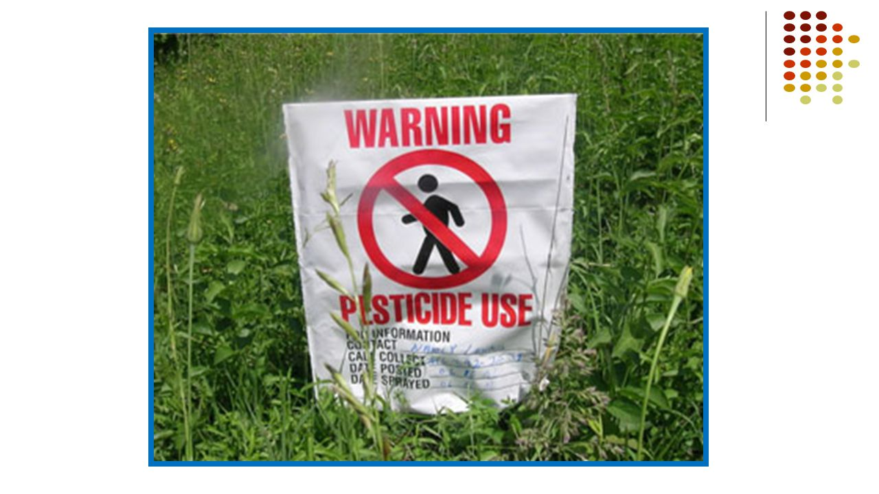 What other warning signs have you seen on the fields
