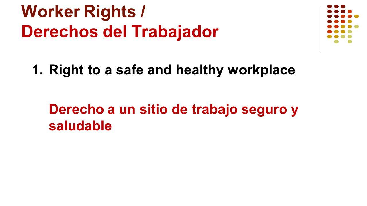 Worker Rights / Derechos del Trabajador