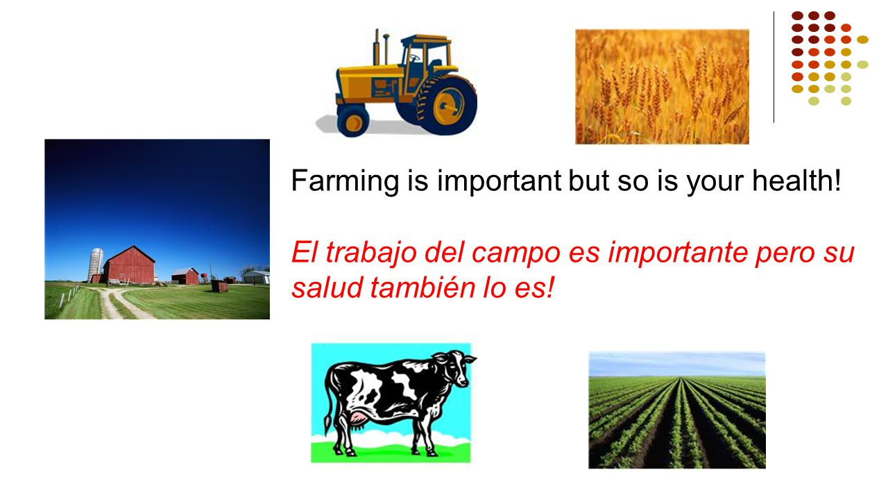 Farming is important but so is your health!