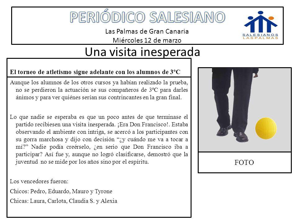 PERIÓDICO SALESIANO Las Palmas de Gran Canaria Miércoles 12 de marzo