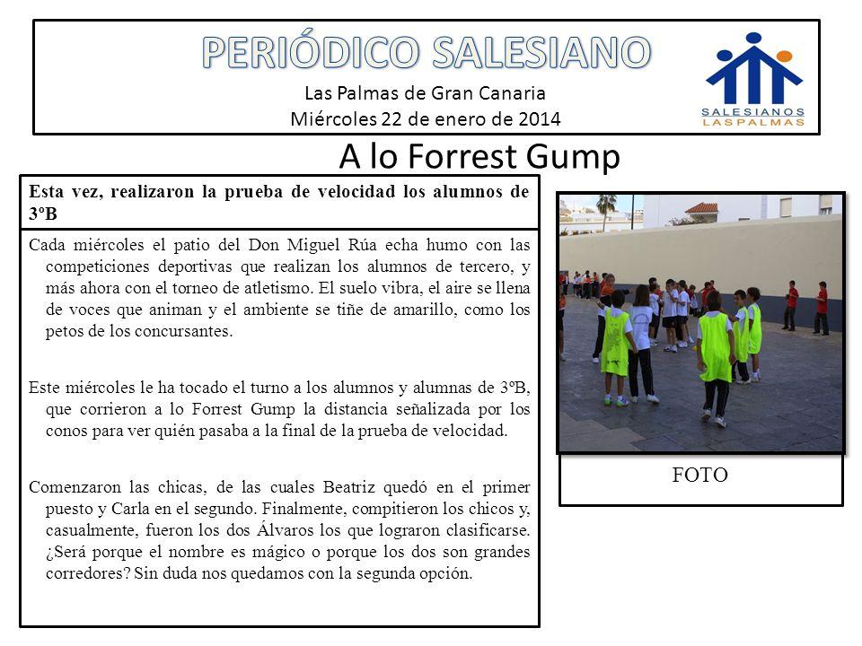 PERIÓDICO SALESIANO Las Palmas de Gran Canaria Miércoles 22 de enero de 2014