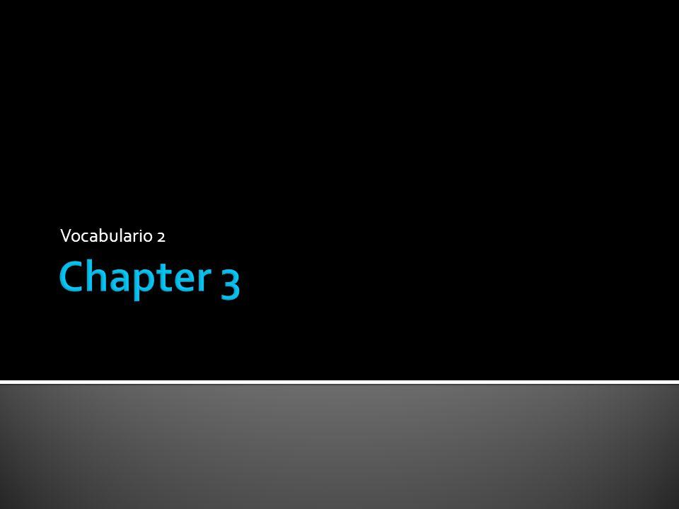 Vocabulario 2 Chapter 3