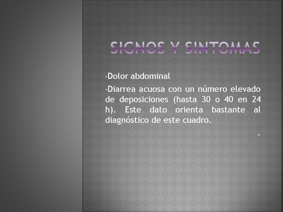 Signos y sintomas Dolor abdominal