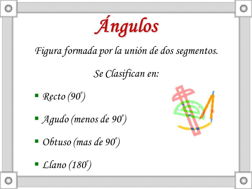 Figura formada por la unión de dos segmentos.
