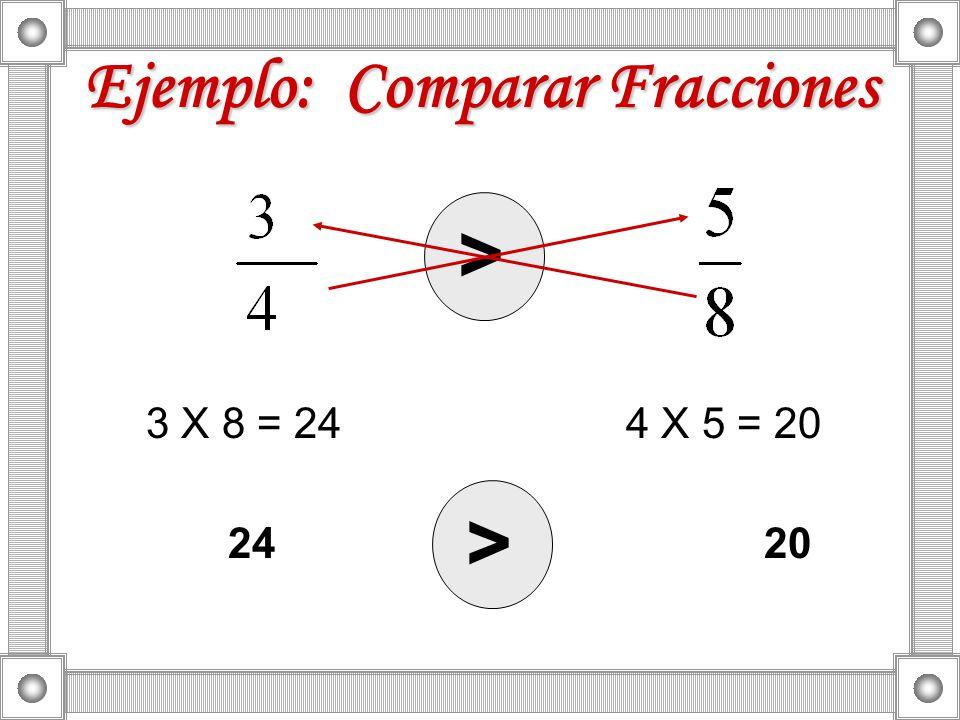 Ejemplo: Comparar Fracciones
