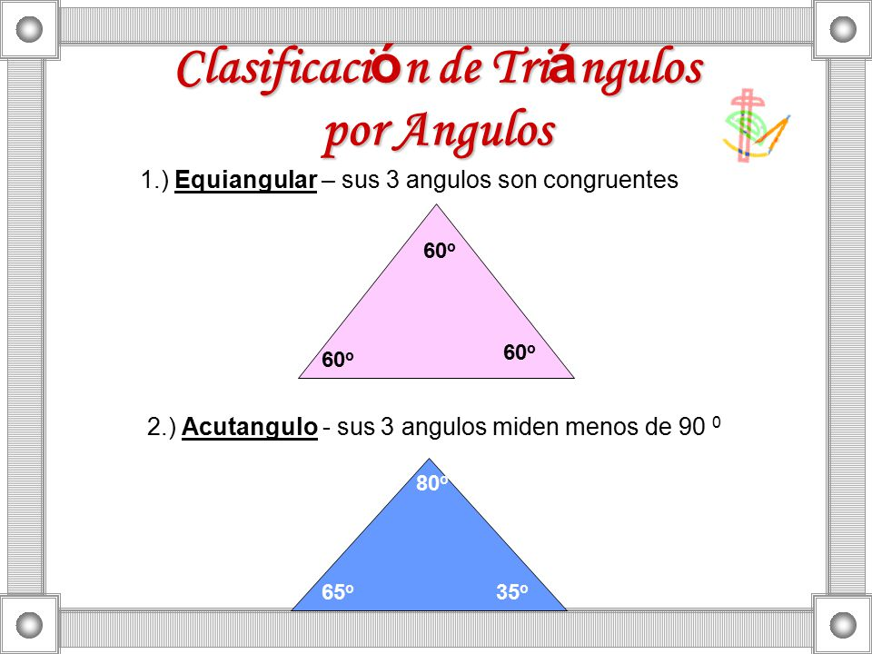 Clasificación de Triángulos por Angulos