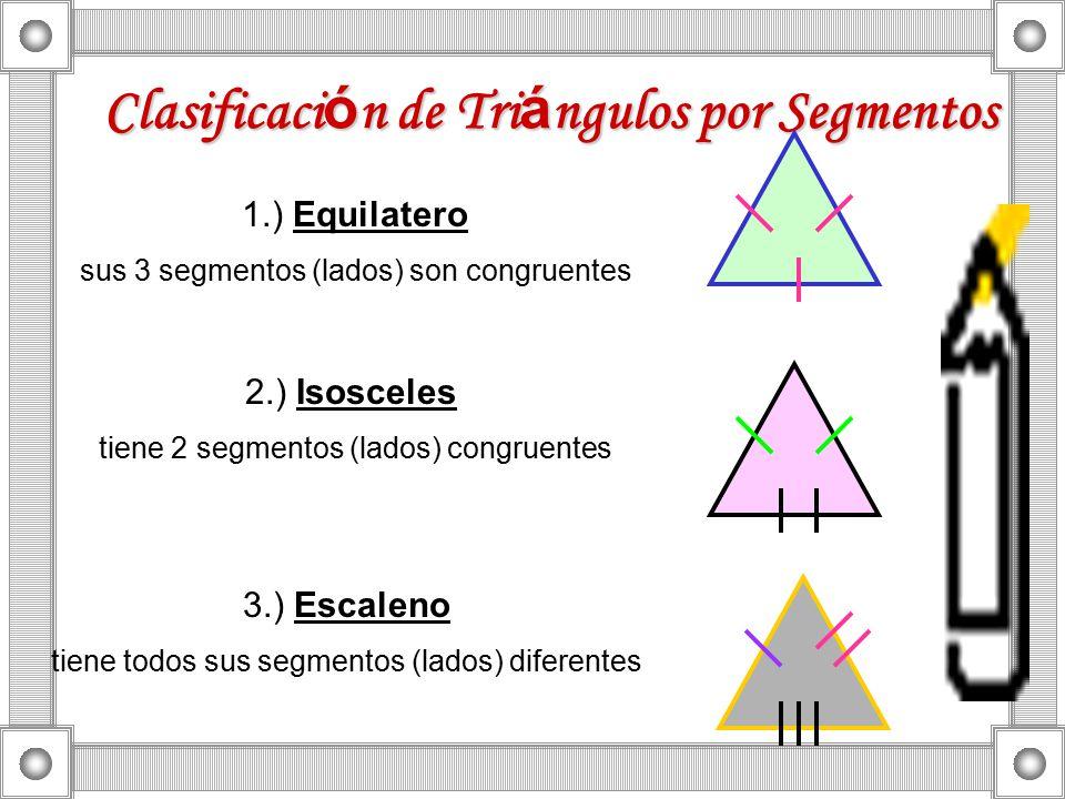 Clasificación de Triángulos por Segmentos