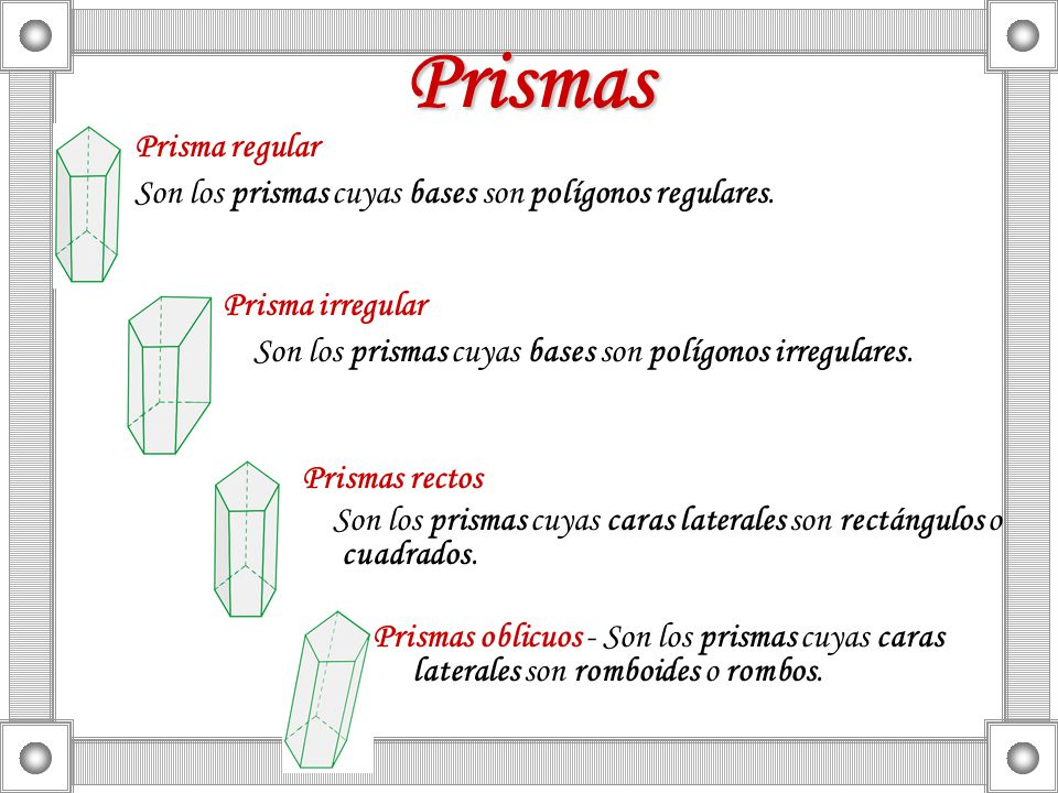 Prismas Prisma regular