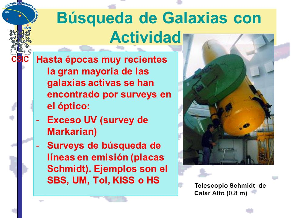 Búsqueda de Galaxias con Actividad