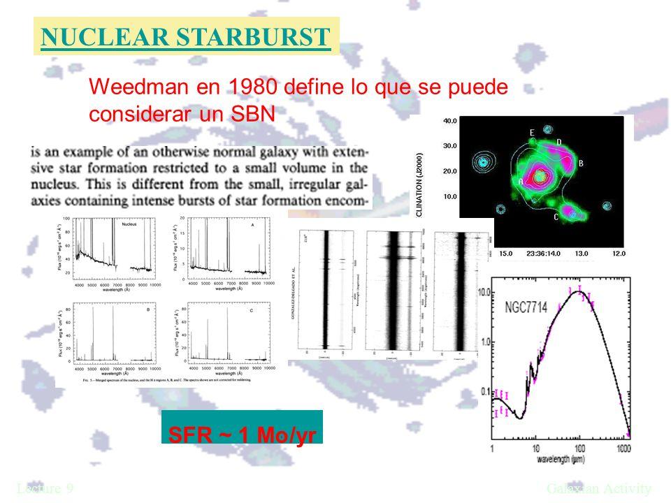 Weedman en 1980 define lo que se puede considerar un SBN