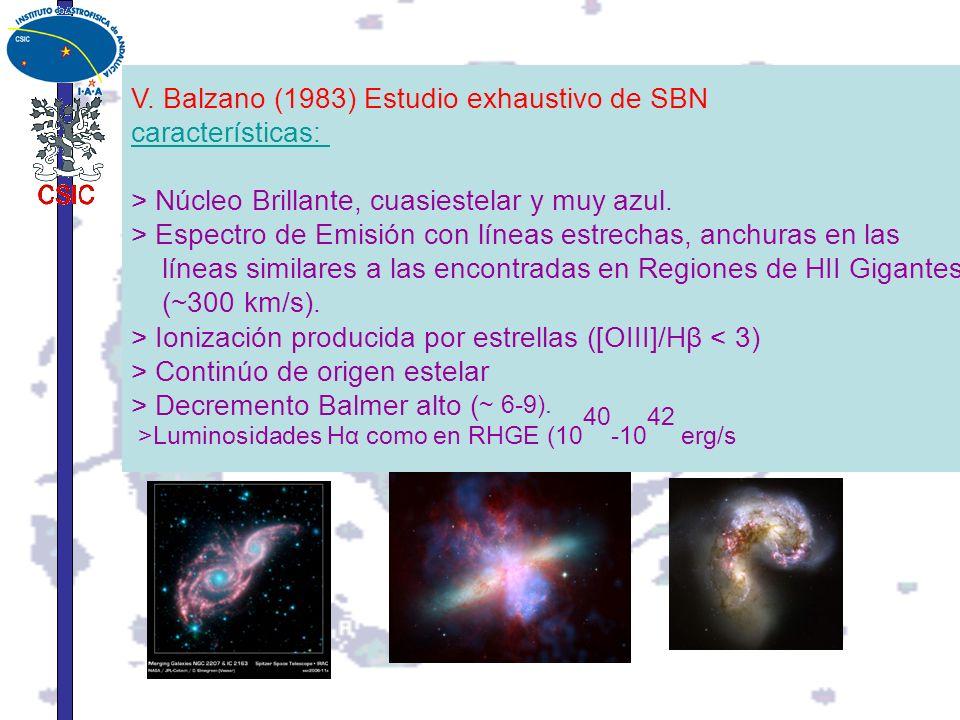 V. Balzano (1983) Estudio exhaustivo de SBN características:
