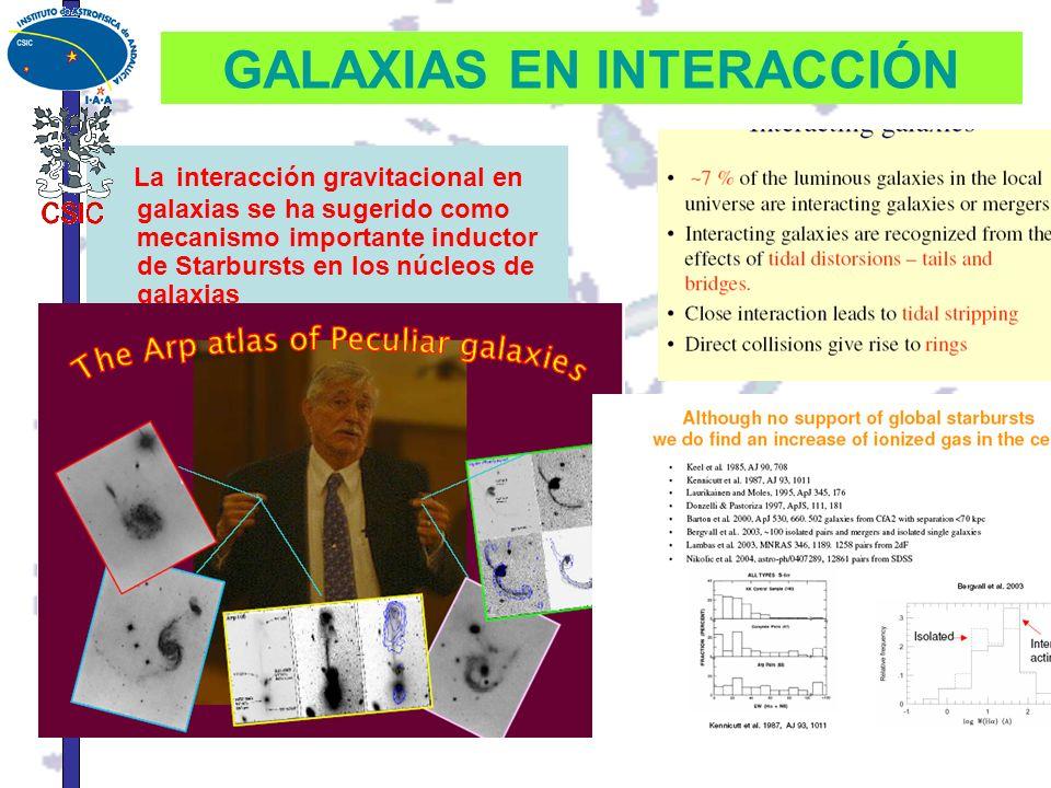 GALAXIAS EN INTERACCIÓN