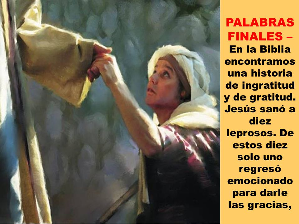 PALABRAS FINALES –