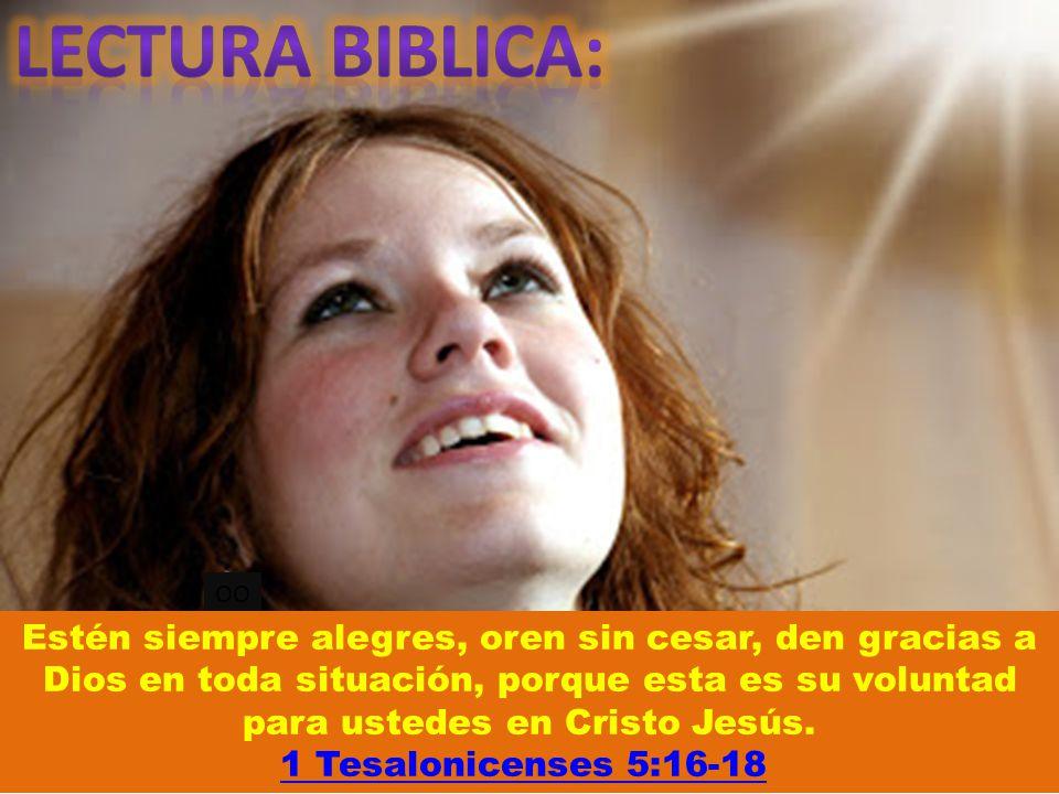 LECTURA BIBLICA: OO.
