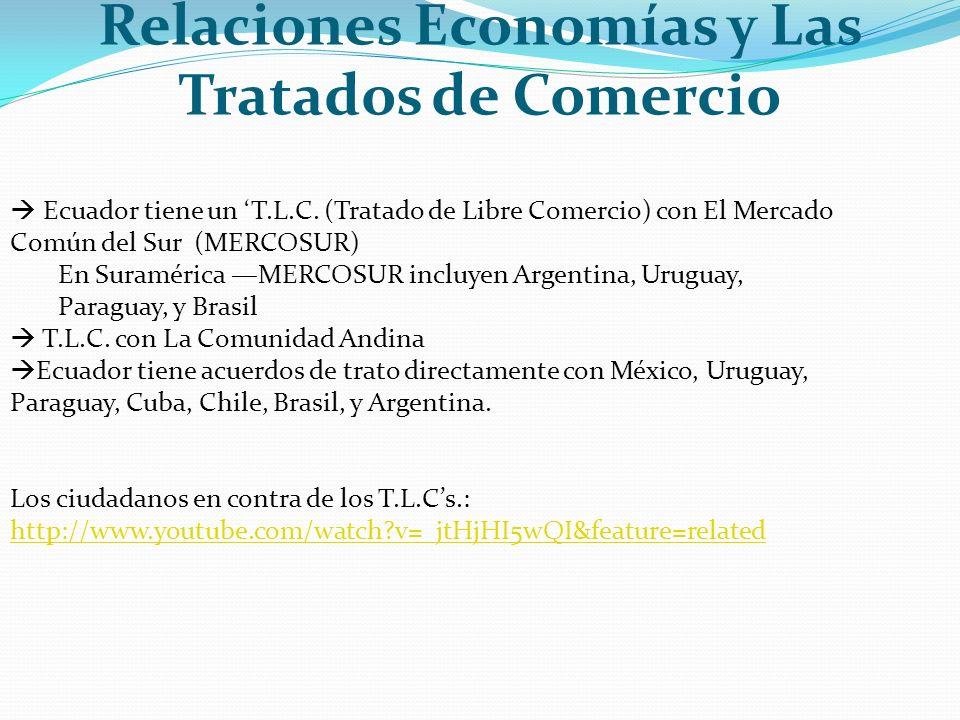 Relaciones Economías y Las Tratados de Comercio