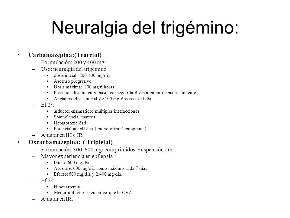 Neuralgia del trigémino: