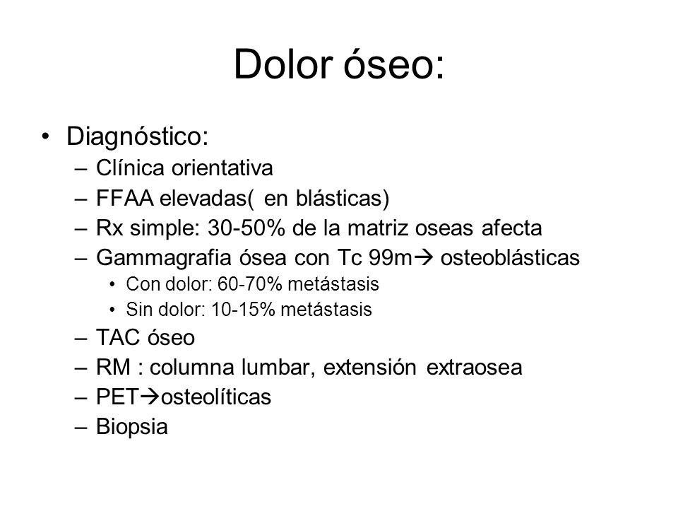 Dolor óseo: Diagnóstico: Clínica orientativa