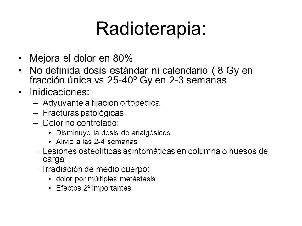 Radioterapia: Mejora el dolor en 80%